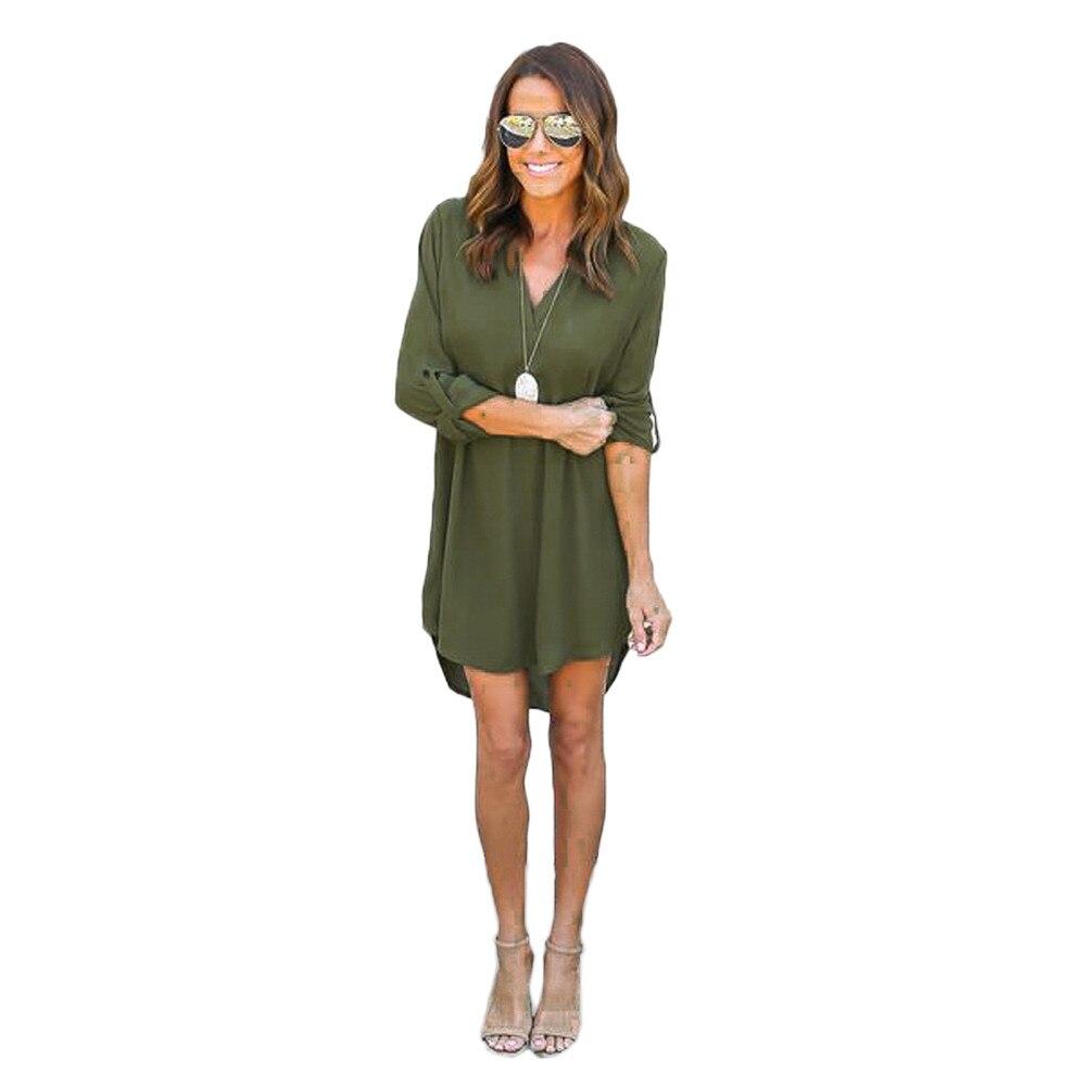 blusas mujer de moda 2019 Summer Long Sleeve Chiffon Long   Shirts   Ladies Work Wear Office   Blouses   Black Irregular Loose Women Top