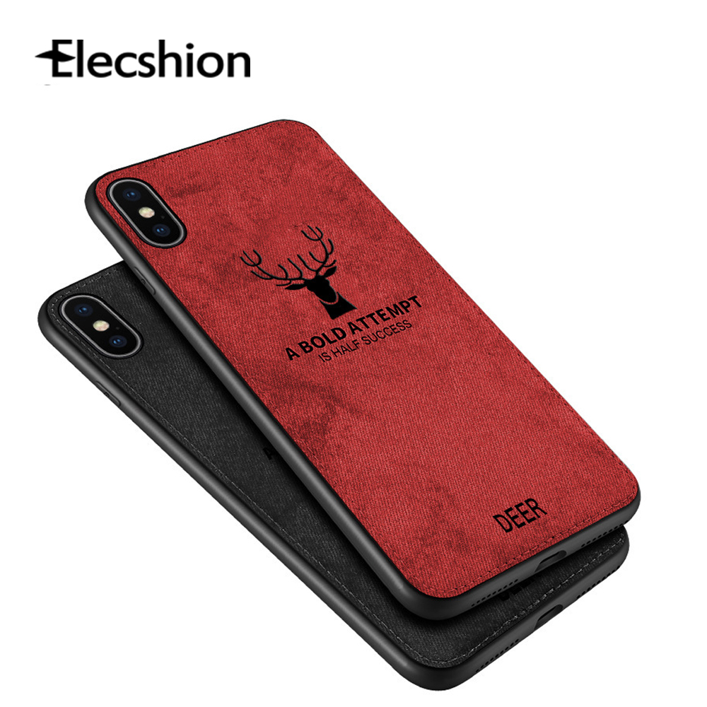 Fabric Cloth Deer Phone Cases For iphone 7 8 Plus 6 6S X XS MAX XR Cover Fashion Luxury Ultra Thin Soft Mobile Phone Accessories