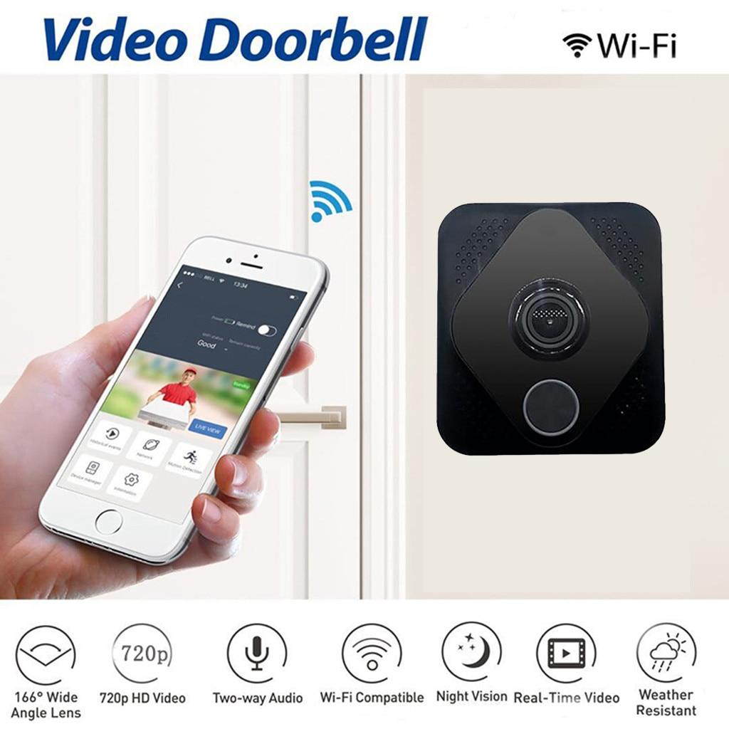 Binmer Video Doorbell Smart Wireless WiFi Security Door Bell Visual Recording Home Monitor Night Vision Intercom Door Phone#GT10