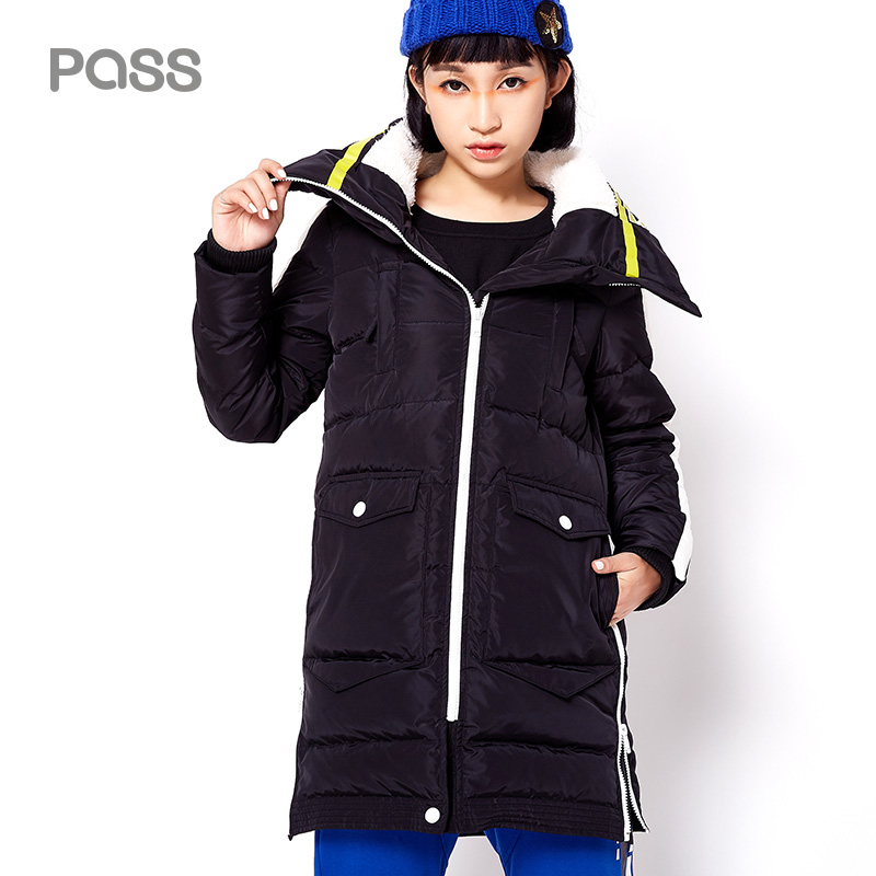 PASS 2017 New Long Down Coats Warm Thicken Down Parkas font b Jacket b font Female