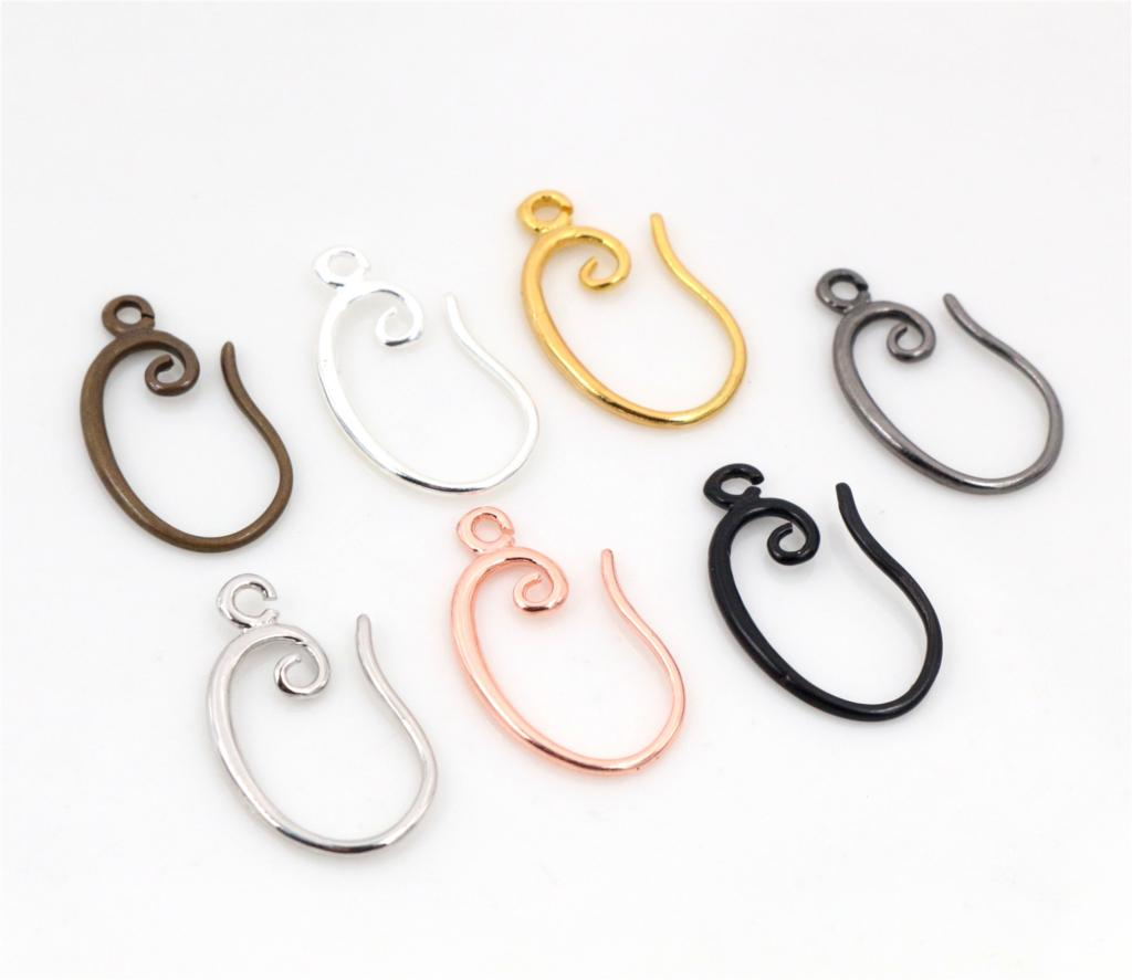 Earring-Hooks Base-Settings Plated-Brass French High-Quality Classic Whole-Sale 5pair