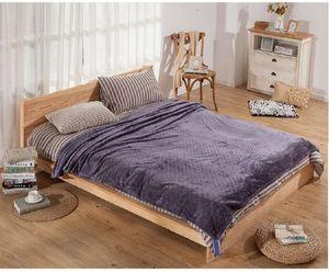 Image 5 - CAMMITEVER 24 Farben Home Textil Feste Luft/Sofa/Bettwäsche Werfen Flanell Decke Winter Warme Weiche Bettlaken 150/180*200cm 200*230cm
