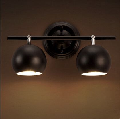 2 Lights Nordic Modern Iron Rotatable Led Wall Lamp Ball Simple Wall Sconce Fixtures Bedside Lamp For Bedroom Bar Living Room led wall lights acrylic modern living room bedroom home decoration wall lamp for bedside bedroom restroom wall mounted wall lamp
