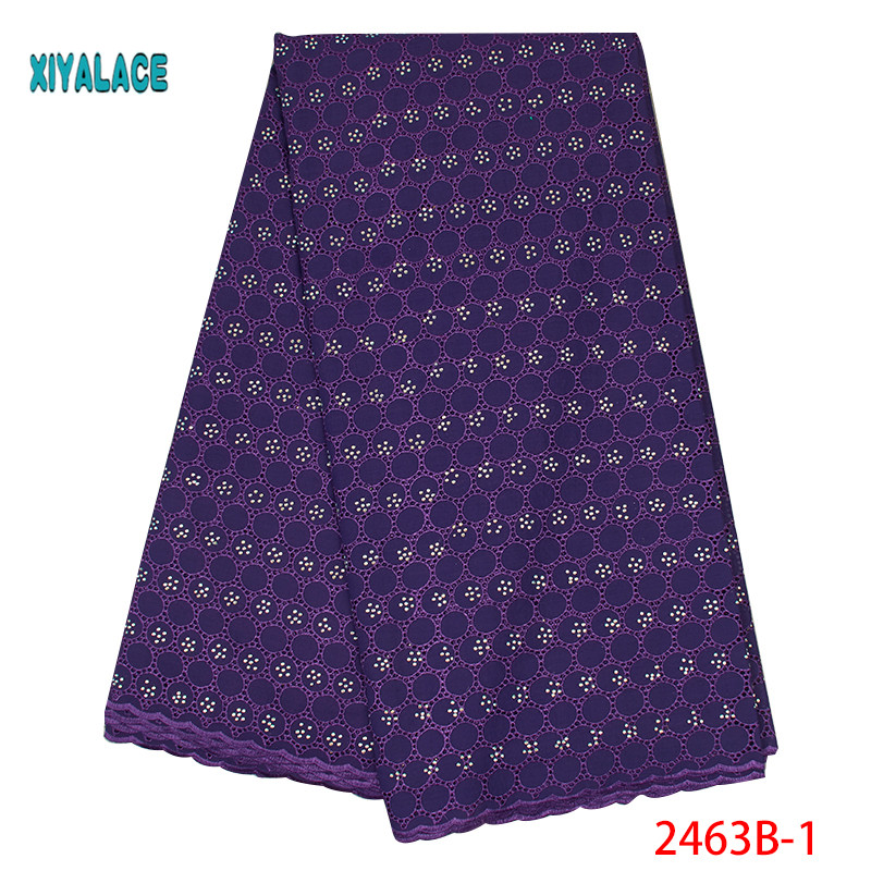African Lace Fabrics 2019 Nigerian Swiss Voile Lace High Quality French Swiss Voile Lace In Switzerland For Wedding YA2463B-1