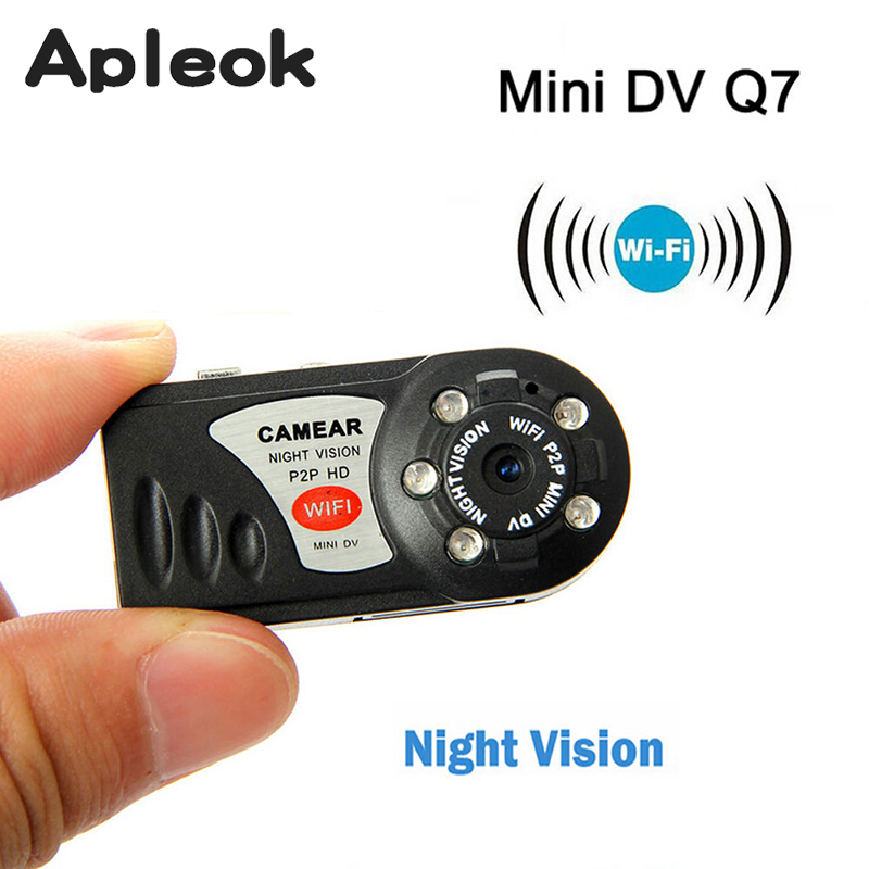 Mini Q7 Camera Wifi DVR Wireless Camcorder Video Recorder DV Infrared Night Vision Camera Motion Detection Built-in Microphone