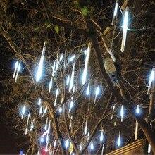 멀티 컬러 30 cm 유성 샤워 비가 튜브 AC100 240V led 크리스마스 조명 웨딩 파티 정원 크리스마스 문자열 빛 야외