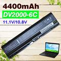 Bateria do portátil 4400 mah para hp compaq presario v3000 v6000 a900 c700 f500 f700 g7000 pavilion dv6000