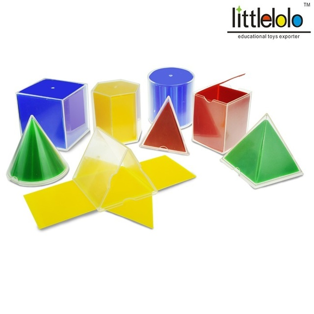 kids toy educational math toy montessori geometric solid learning