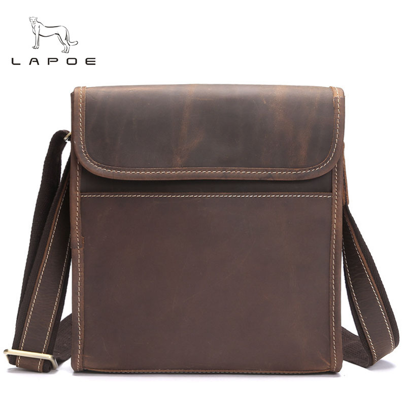 Genuine Leather Shoulder Bags Fashion Men Messenger Bag Small ipad Male Tote Vintage New Crossbody Bags Men's Handbags zznick genuine leather shoulder bags fashion men messenger bag small ipad male tote vintage new crossbody bags men s handbag