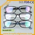 605 de Alta qualidade com preço de fábrica aro completo grande quadro miopia óculos óculos óculos óptica de plástico