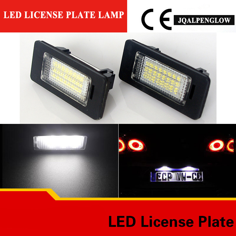 2X CE Car Error Free LED License Plate Light Chips Number Licence Plate Lamp Rear Tail Lamp forBMW E39.E70.E82.E88.E90.E91.E92