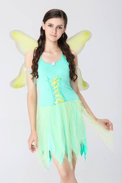 halloween costumes adult women the wizard of oz green forest woodland elf fairy costume tinkerbell garden fairy cosplay dress