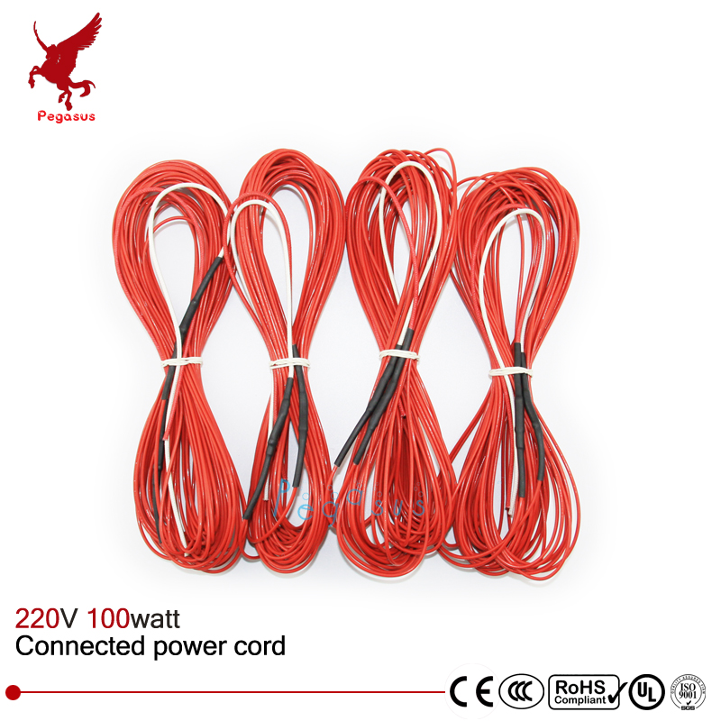 F12K 15meters 100w 33ohm Carbon fiber heating wire PTFE Teflon ...