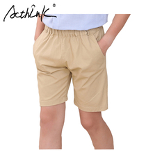 ActhInK 2019 2 Colors New Boys Summer Khaki Shorts School Cotton Pants Teenage Kids Casual