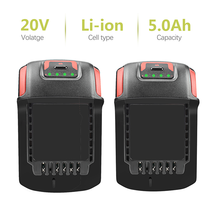 BATTOOL 2pcs for BL2022 BL 2022 IQV20 5000mAh Batteries Li Ion 20V 5.0A Ingersoll Rand for all IR IQV 20V Tools