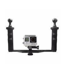 Universal Aluminum Handheld Stabilizer Grip for GoPro 4 3+ 3 Xiaomi yi 4K SJCAM SJ4000 SJ5000 SJ8000 h9 Dome Port Cameras