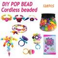 Brinquedos educativos meninas handmade diy contas de plástico pop montado blocos de açúcar dos doces jóias puzzle brinquedos para crianças
