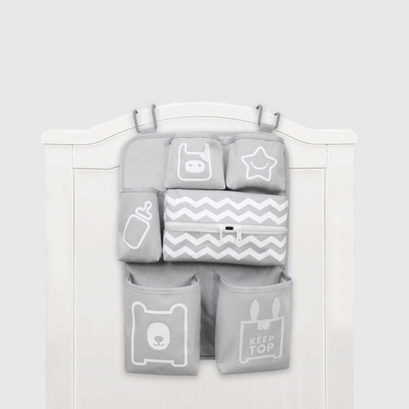 Baby Crib Organizer Newborn Diaper Stacker Stroller Bag Bottle Holder Storage Infant Baby Items Baby Bedding Set Accessories