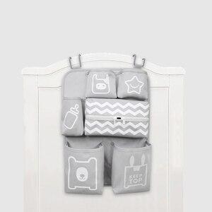 Image 1 - Baby Crib Organizer Newborn Diaper Stacker Stroller Bag Bottle Holder Storage Infant Baby Items Baby Bedding Set Accessories