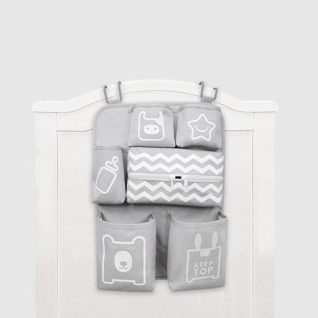 Baby Crib Organizer Newborn Diaper Stacker Stroller Bag Bottle Holder Storage Infant Items Bedding