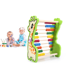 Montessori Kids Toy Wooden Chinese Abacus Learning Educational Preschool Training Juguets Arithmetic Soroban Calculate bead toys