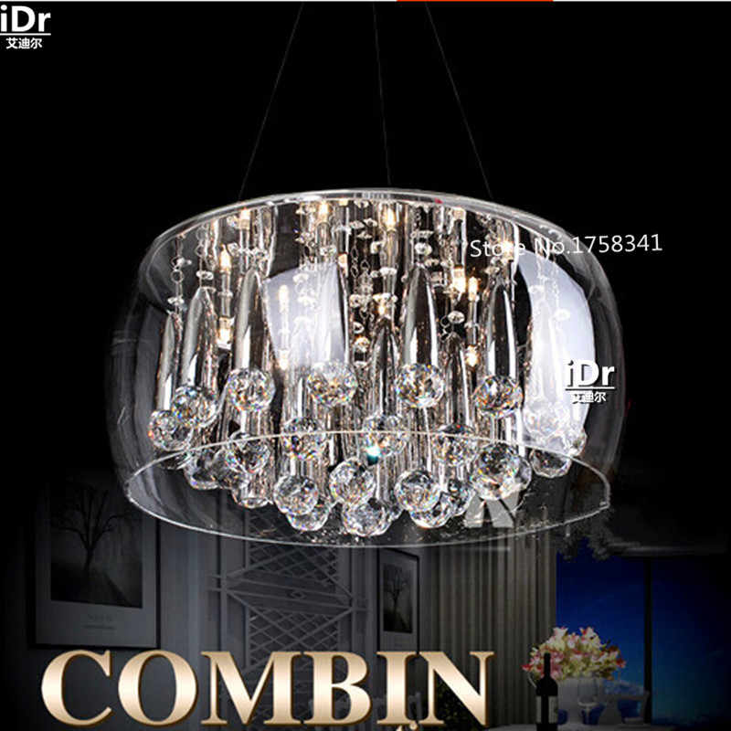 Aquarium led creative modern minimalist restaurant chandelier crystal lamp living room lamp bedroom room