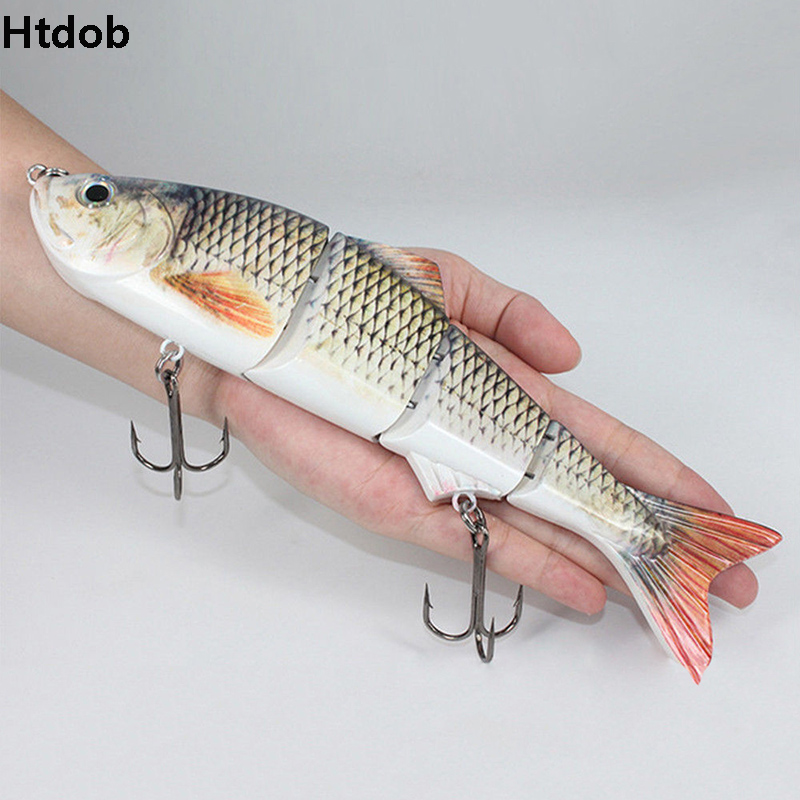 25cm 135g New Artificial Bait Big Fishing Lure 4 Segment sinking Swimbait Crankbait Hard Bait Slow Big Game Fish Lure
