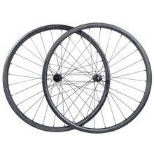Juego de ruedas de carbono de 1280g, para MTB XC, de 30mm, asimétricas, 22mm de profundidad, 29 pulgadas, cubierta sin tubo, de tracción recta, 110mm, 148mm
