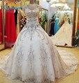 Robe De Mariage Ball Gown Cheap Wedding Dresses 2017 Luxury V neck Beads Wedding Gowns Vestido De Noiva Casamento Bride Dress