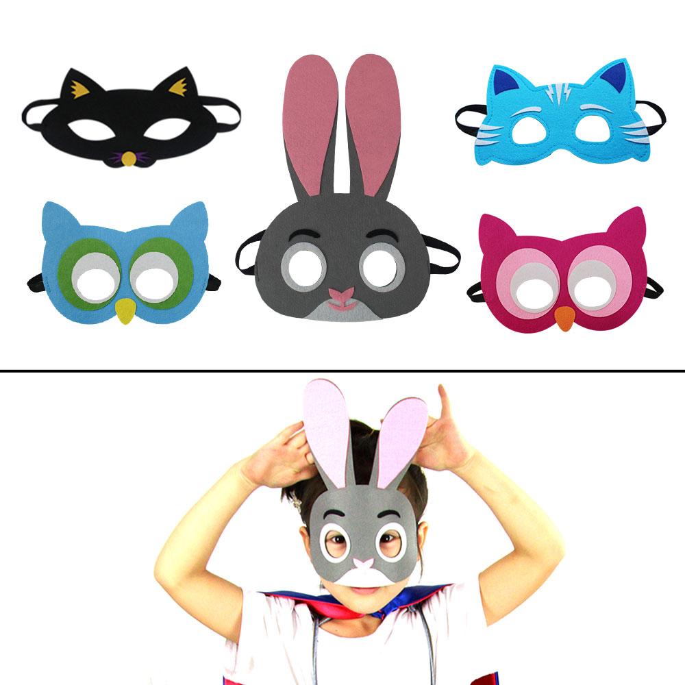 SPECIAL Animal Masks Children Eyewear Zoo Mask Owl Cosplay Mask Toys Party Rabbit Mask Felt Educational Toys Fox Mask
