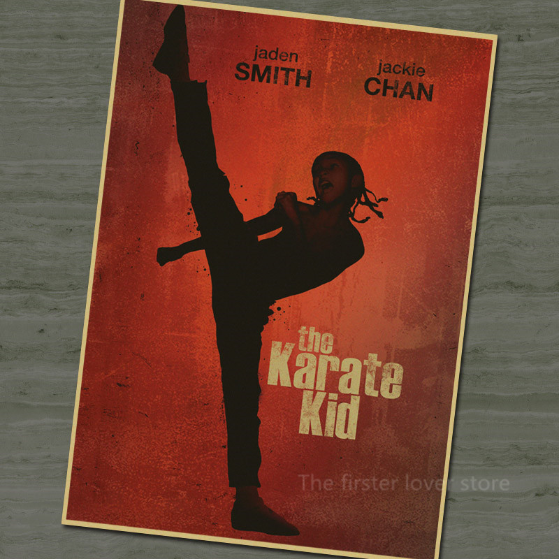 Vintage Retro Movies Jackie Chan Karate Kid Film Poster Home Decorative Kraft Paper Painting Core Wall Sticker image
