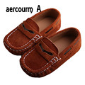 aercourm A Spring Genuine Leather Boys Shoes Summer Style Children Flat Shoes Boys Sneakers Boat Girls Shoes Leather