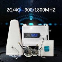 Sinyal amplifikatörü GSM 900 mhz LTE 1800 mhz çift bant mobil cep telefonu sinyal güçlendirici mobil tekrarlayıcı sinyal ev için
