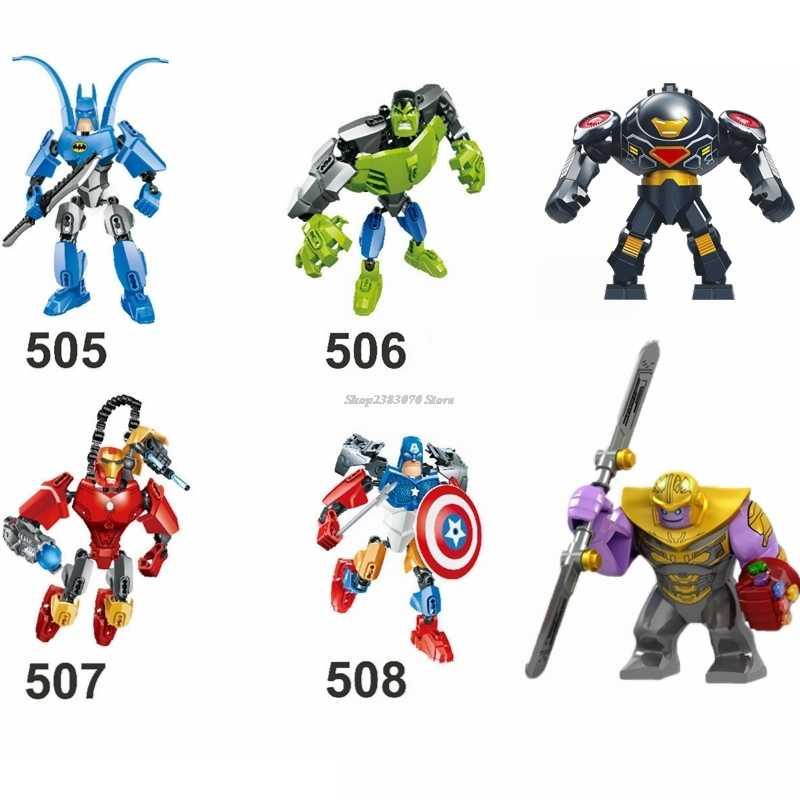 Marvel Super Heroes Avengers 4 Endgame Iron Man Thanos Captain America Hulk Compatible Building Blocks Kid Toy Marvels Legoingly