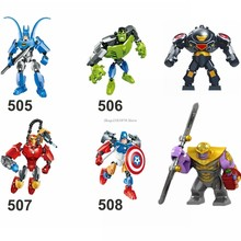 Marvel Super Heroes Avengers 4 Endgame Iron Man Thanos Captain America Hulk Compatible Building Blocks Kid Toy Marvels Legoingly(China)