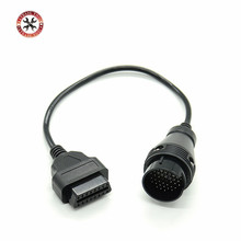 High Quality MB 38 Pin to 16 Pin OBD2 OBD Diagnostic Adapter For Mercedes 38 pin OBD 38pin Connector For Benz Free Shipping