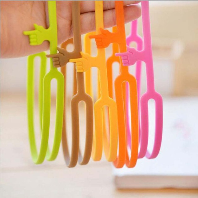 WESON Hot Sale New Cute Silicone Finger Pointing Bookmark Book Mark Office Supply Funny Gift Drop Shipping