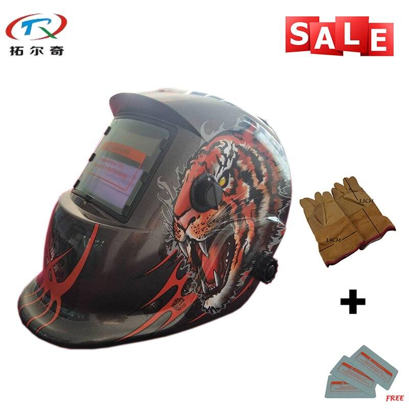 Máscaras de Solda Máquina de Solda Camaleões de Soldagem Capacete de Soldagem Trq42 com 2233de-yg Painel Solar Vidro Velocidade Sombras Máscara