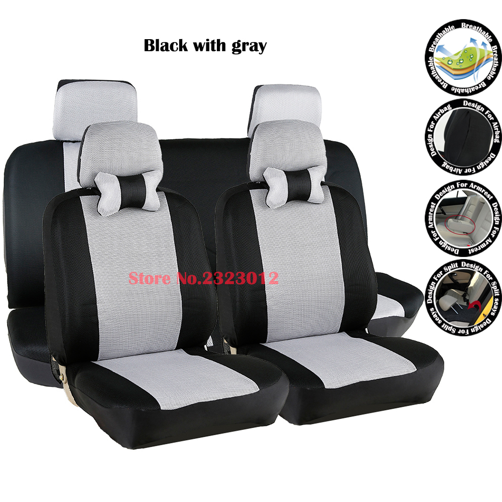 front rear universal car seat covers for dacia sandero duster logan car accessories car. Black Bedroom Furniture Sets. Home Design Ideas