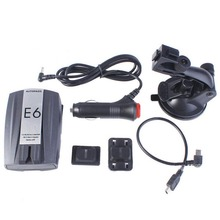XOBD E6 Автомобилей Скорость Лазерной GPS 360 Голос Оповещения Электронной Собака Радар-Детектор Автомобильная Электроника 1 Шт. (Черный)