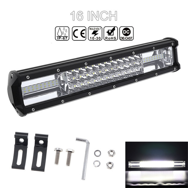 7d 16 360w car led worklight bar triple row spot flood combo 7d 16 360w car led worklight bar triple row spot flood combo offroad light mozeypictures Choice Image