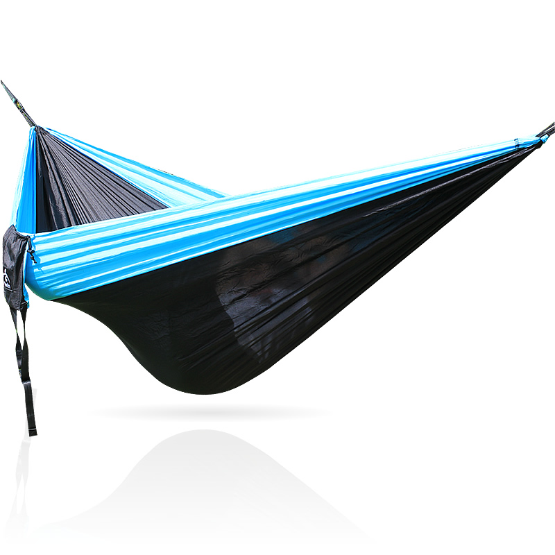 Parachute Cloth Outdoor Camping Hammock, 2 People Sleep Hanging Bed