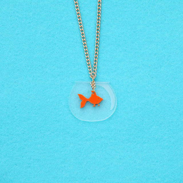 Creative Ffish tank Necklace 2