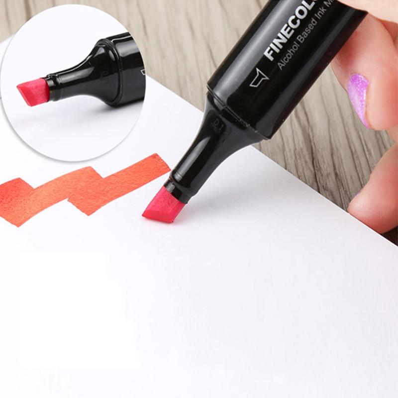 Finecolour 480 Colori A Doppia Spazzola Marcatori EF102 Set Inchiostro A Base di Alcool Sketch Art Marker Scuola Fornitore-in Pennarelli da disegno da Articoli per scuola e ufficio su  Gruppo 2