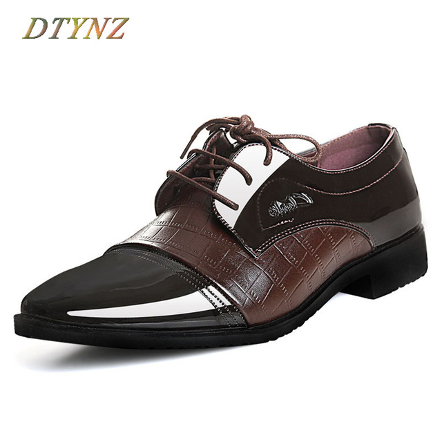 Us 48 09 Dtynz Men Formal Shoes Good Leather Office Footwear Comfortable Lining Tasteful Earance 2018 Autumn Lace Up Breathable In