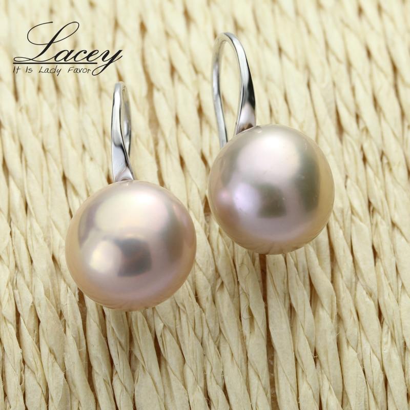 100% ægte perle øreringe, ferskvandsperle øreringe til kvinder - Smykker - Foto 3