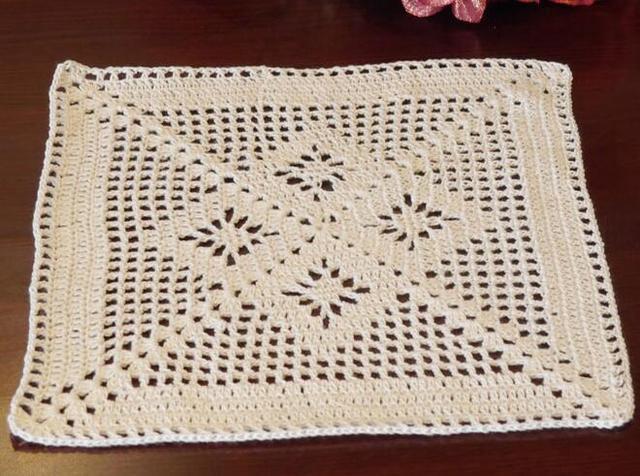 Hot Crochet Table Mat Kitchen Handmade Placemat Lace Cotton Place