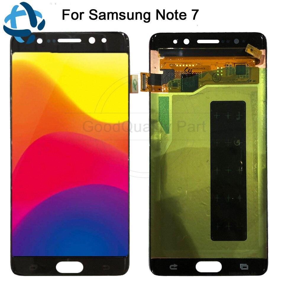 Pour Samsung Galaxy Note7 note FE 7 N930 N930F G LCD écran tactile numériseur assemblée pour Samsung note 7 LCD remplacement