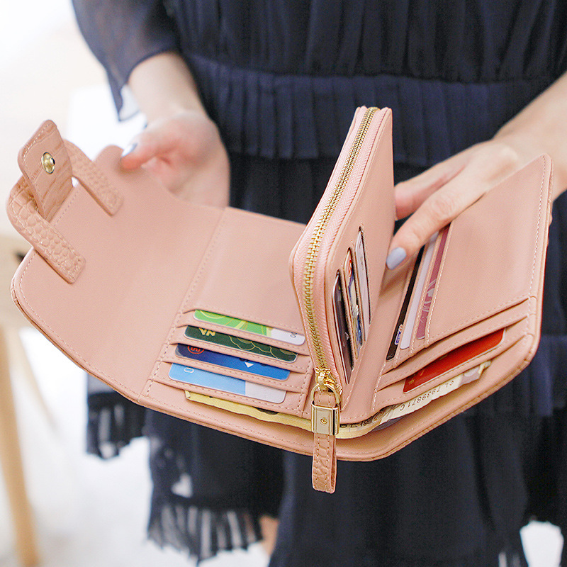 Fashion Women Leather Short Wallets Female Mini Wallet Small Clutch Purses Coin Pocket Card Holder high quality Money Bag contact s women wallet men fashion ladies short wallets genuine leather small wallet coin purse girl card holder clutch bag gift