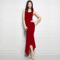 Women Stylish 2018 Maxi Dresses For Woman Autumn Solid Bodycon Sleeveless Mermaid Knitted Dress Elastic Slim Cashmere Wool Dress